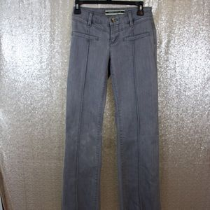 Anthro Gray Wash Front Seam Trousers